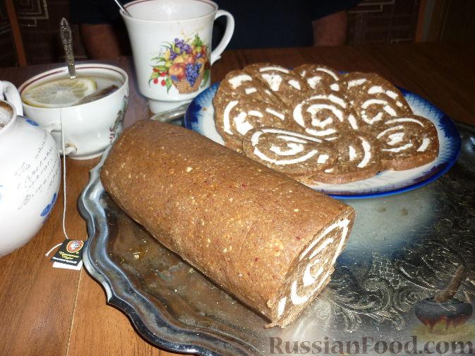Рецепт Рулет из печенья с зефиром