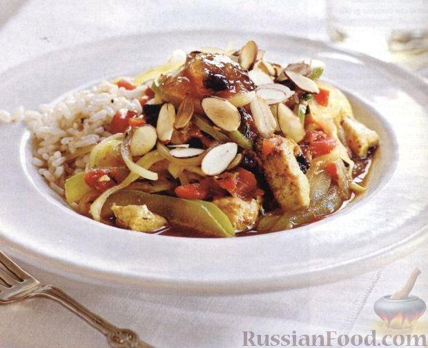 Рецепт Соус карри из куриного филе с болгарским перцем
