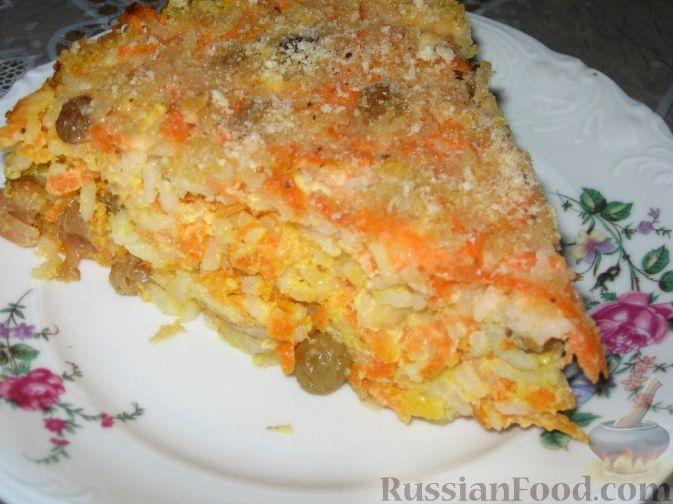 Рецепт Сладкая запеканка из риса и моркови