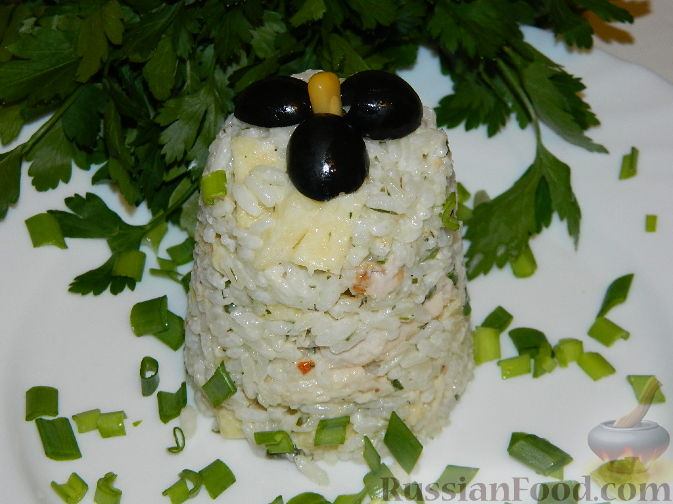 рецепт салат петровский курицей