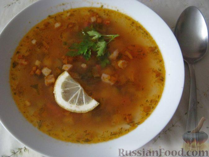 Рецепт супа солянки с сосисками и капустой