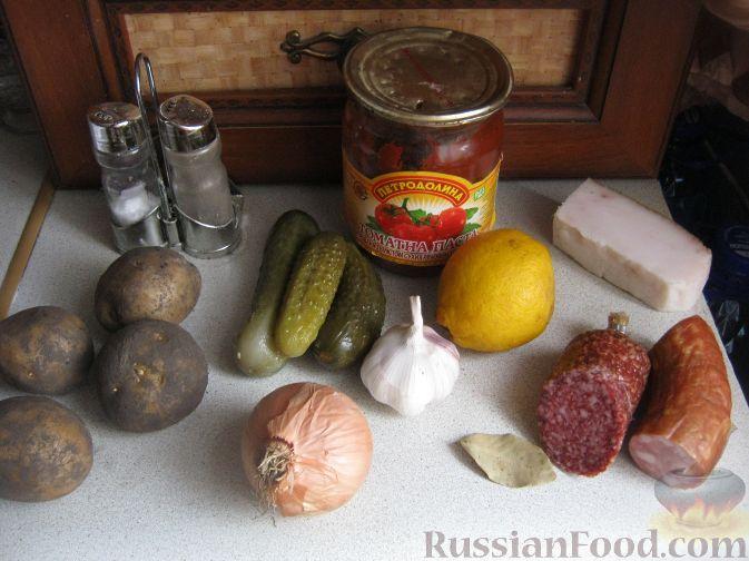 рецепт солянки с колбасой рецепт с фото пошагово