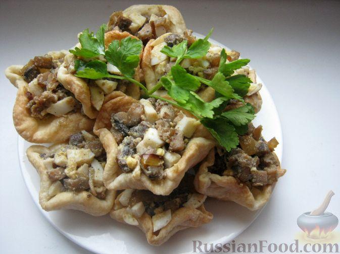 Рецепт Тарталетки с грибной начинкой