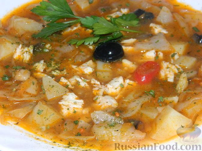 Рецепт Зимний суп-солянка из капусты
