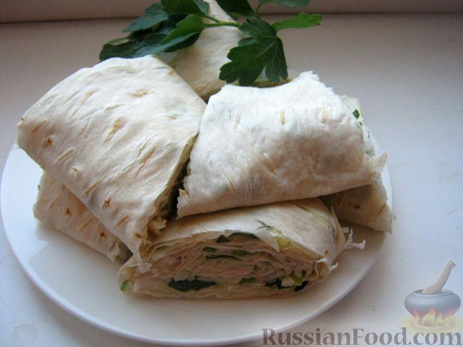Рецепт Лаваш с зеленью к шашлыку
