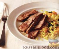 Фото к рецепту: Жареная ягнятина с кус-кусом