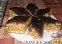 """Фото к рецепту: Торт """"Птичье молоко"""" (без суфле)"""