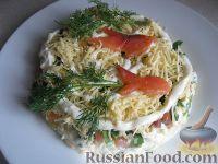 "Фото к рецепту: Салат с семгой  ""Недотрога"""