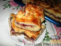 Фото к рецепту: Пирог с яблоками и ежевикой