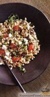 Фото к рецепту: Перловая каша с помидорами и баклажанами