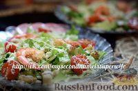 "Фото к рецепту: Салат ""Цезарь"" с креветками"