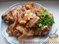 Фото к рецепту: Шашлык из курицы в духовке