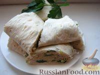 Фото к рецепту: Лаваш с зеленью к шашлыку