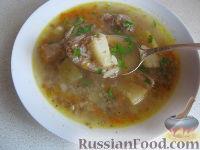 Фото к рецепту: Суп русский (мясной с гречкой)