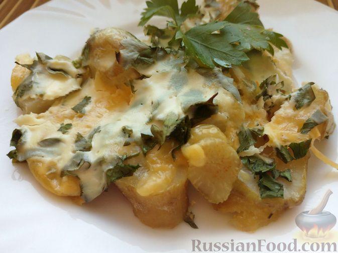 Фото к рецепту: Топинамбур, запеченный с сыром