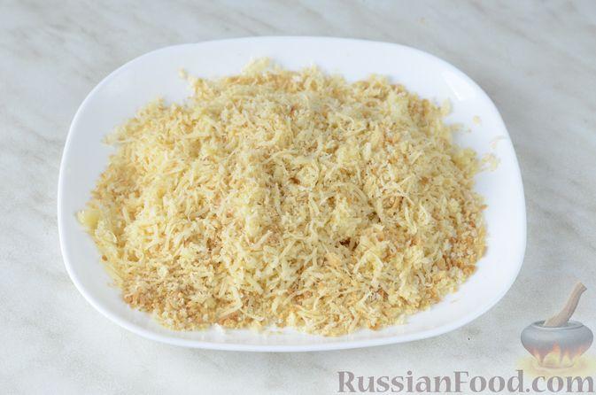 Фото приготовления рецепта: Цветная капуста в чесночном соусе, запечённая под сыром - шаг №14