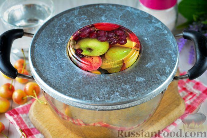 Фото приготовления рецепта: Компот из жёлтой черешни на зиму - шаг №3