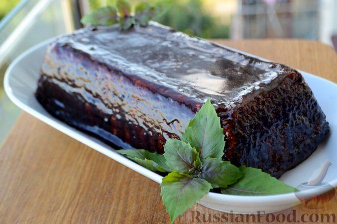 Фото приготовления рецепта: Дрожжевой пирог с картошкой, грибами и зелёным луком - шаг №9