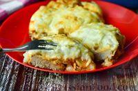 """Фото к рецепту: Мясные """"стожки"""" с огурцами, картофелем и сыром"""