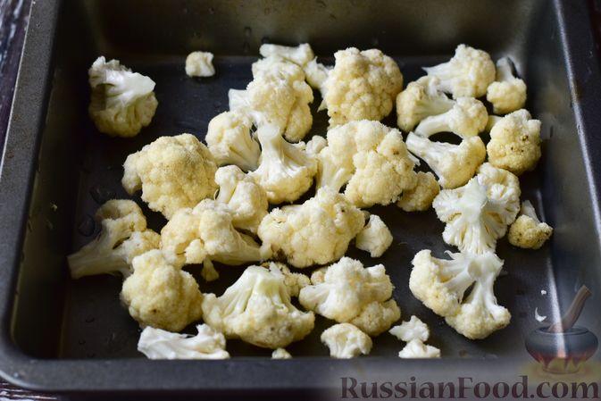 Фото приготовления рецепта: Запечённая цветная капуста в томатно-медовом соусе - шаг №5