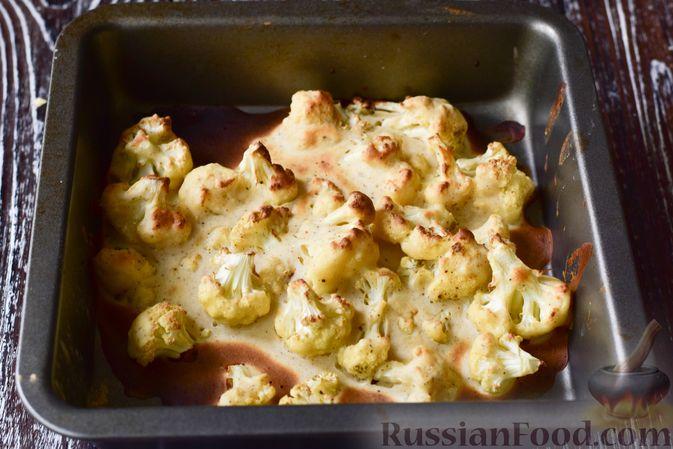 Фото приготовления рецепта: Запечённая цветная капуста в томатно-медовом соусе - шаг №7