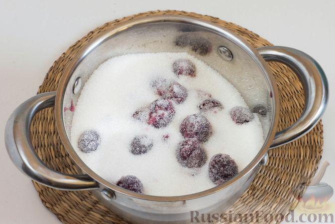 Фото приготовления рецепта: Варенье из черешни с лимоном (на зиму) - шаг №3