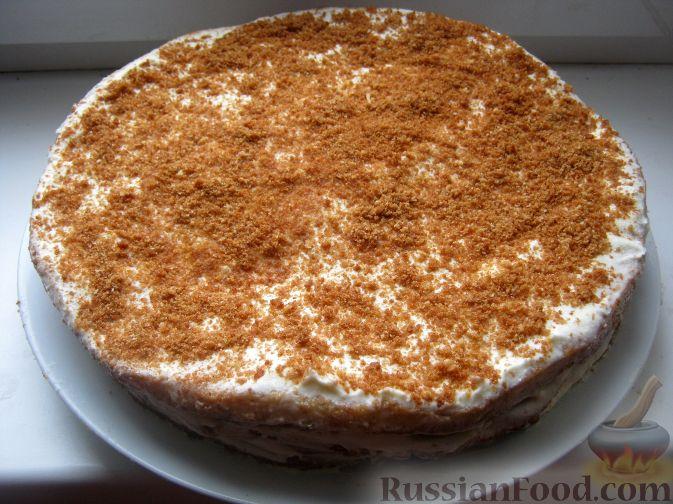Медовый торт со сметаной и сгущенкой рецепт с фото