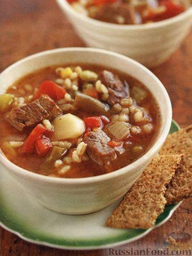 Рецепт Рагу из мяса, овощей и перловки, приготовленное в медленноварке