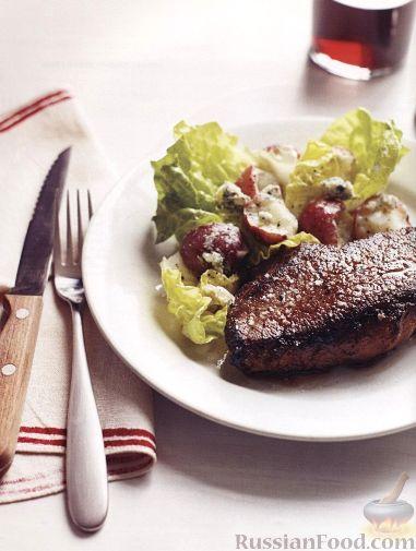 Рецепт Жареные стейки с картофельным салатом