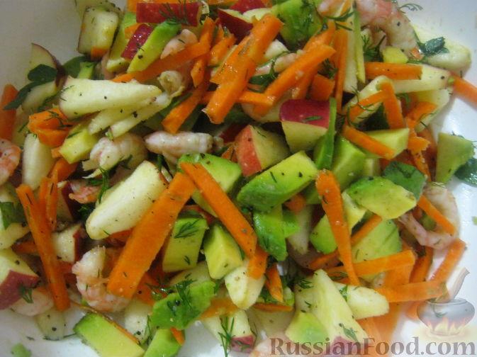 Фото приготовления рецепта: Салат-коктейль из авокадо - шаг №10