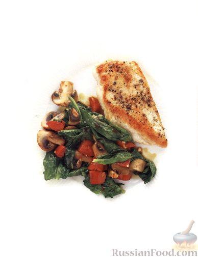 Рецепт Куриное филе с грибным соте