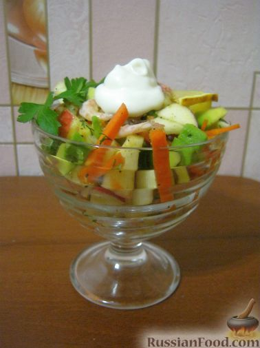 Фото к рецепту: Салат-коктейль из авокадо