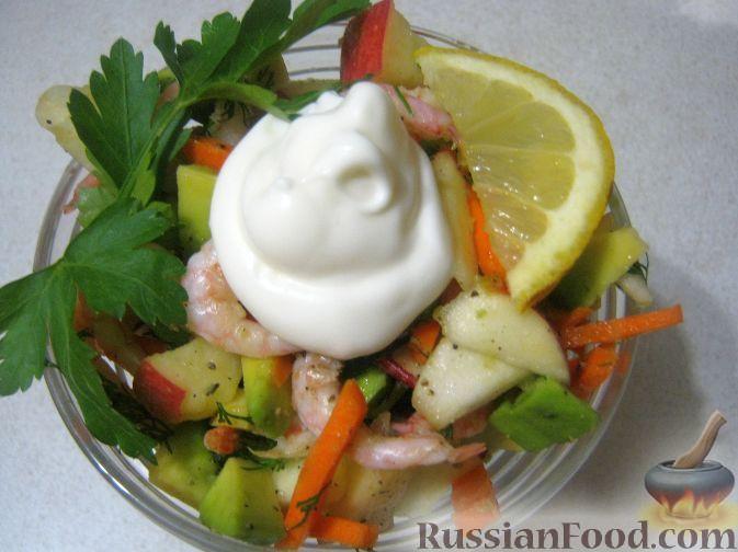 Фото приготовления рецепта: Салат-коктейль из авокадо - шаг №11