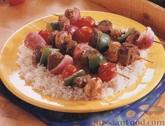 Рецепт Шашлыки из мяса и овощей