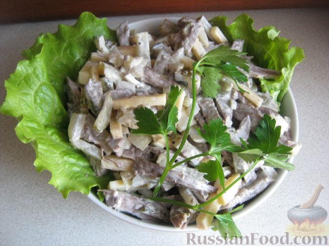 Рецепт Сырный салат с сердцем
