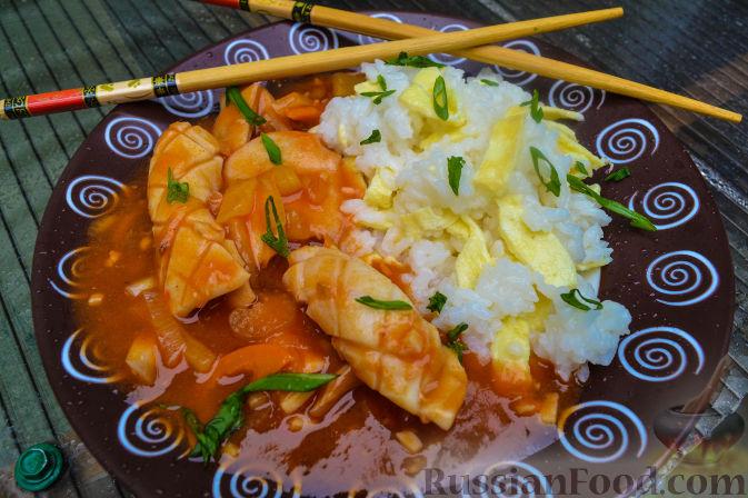 Рецепт Кальмар в кисло-сладком соусе