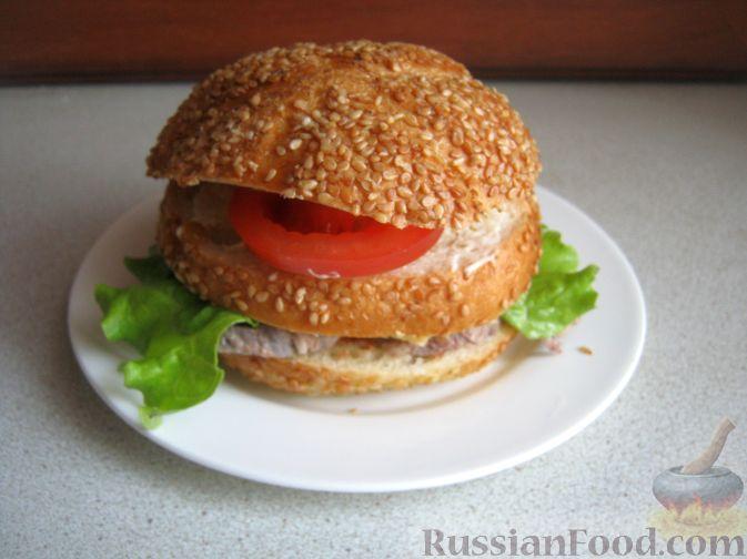 Рецепт Бургер с языком