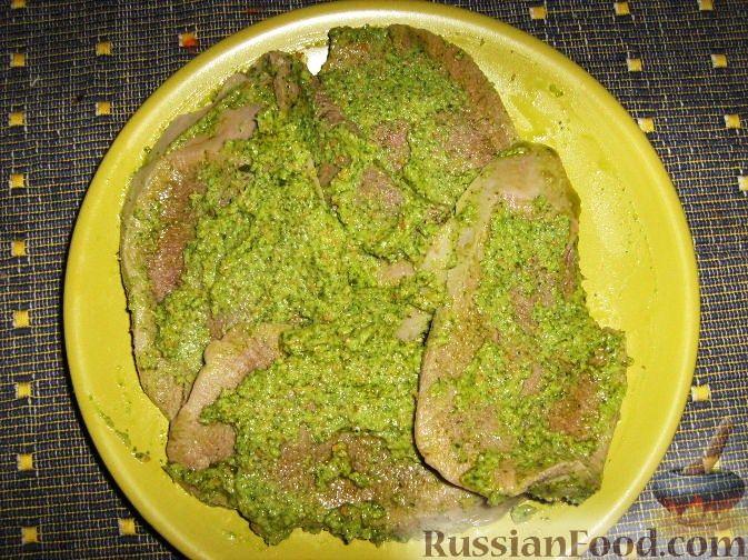 Рецепт Язык под зеленой сальсой (Сальса Верде)