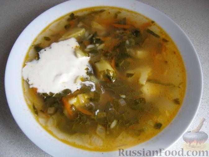 Рецепт Украинский зеленый борщ
