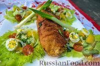 Фото к рецепту: Караджорджева шницла (шницель по-карагеоргиевски)