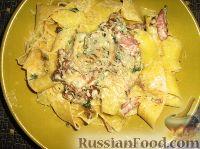 Фото к рецепту: Папарделле с «лесным» соусом