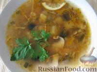 Фото к рецепту: Грибная солянка с капустой