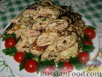 Фото к рецепту: Блинчики с печенью трески