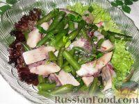 Фото к рецепту: Салат  из сельди и зеленой фасоли