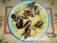 Фото к рецепту: Паста (макароны) лингуине  с мидиями