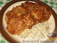 Фото к рецепту: Мясокартофельные оладьи с грибами