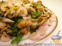 Фото к рецепту: Салат ассорти из морепродуктов