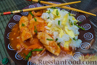 Фото к рецепту: Кальмар в кисло-сладком соусе