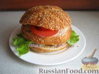 Фото к рецепту: Бургер с языком