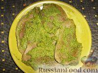 Фото к рецепту: Язык под зеленой сальсой (Сальса Верде)